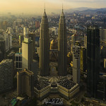 An Aerial Shot Of Kuala Lumpur During Golden Hour