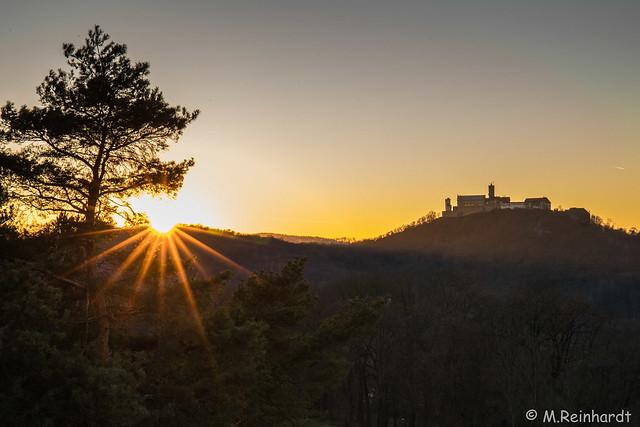Sonnenuntergang Wartburg