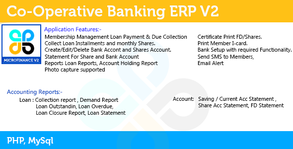 Credit Co-Operative ERP v1.0