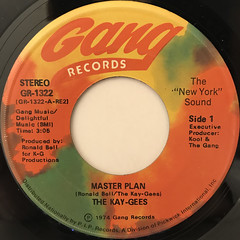 THE KAY-GEES:MASTER PLAN(LABEL SIDE-A)