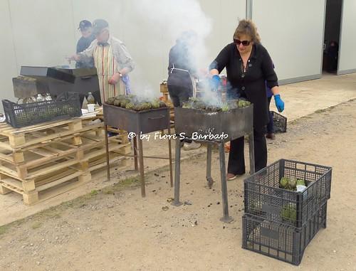 Eboli (SA), 2017, Le serre della Azienda Pastore e la festa del carciofo.