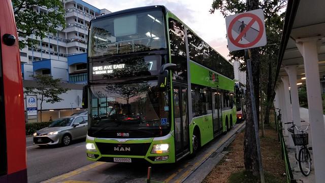 SG5999Z on SBS Transit Bus Service 7