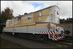 Elektrická hybridní lokomotiva (trolej 3000V / akumulátor) VL26-005. БЛ26-005 Latvijas dzelzceļa vēstures muzejs, Rīga