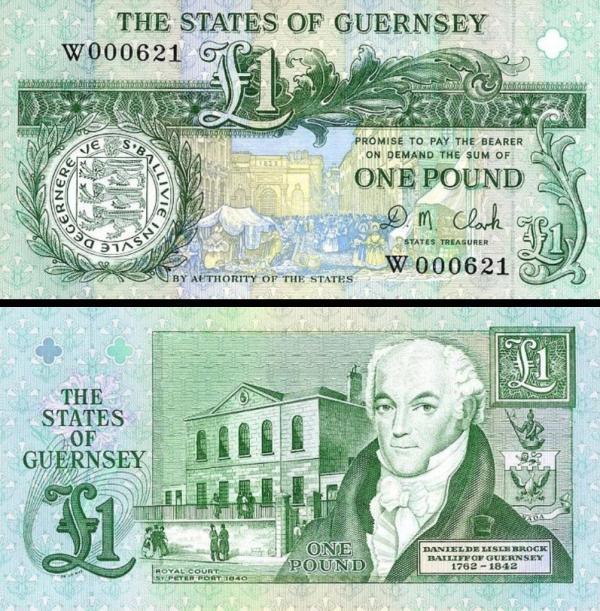 1 Libra Guernsey 1991, P52c