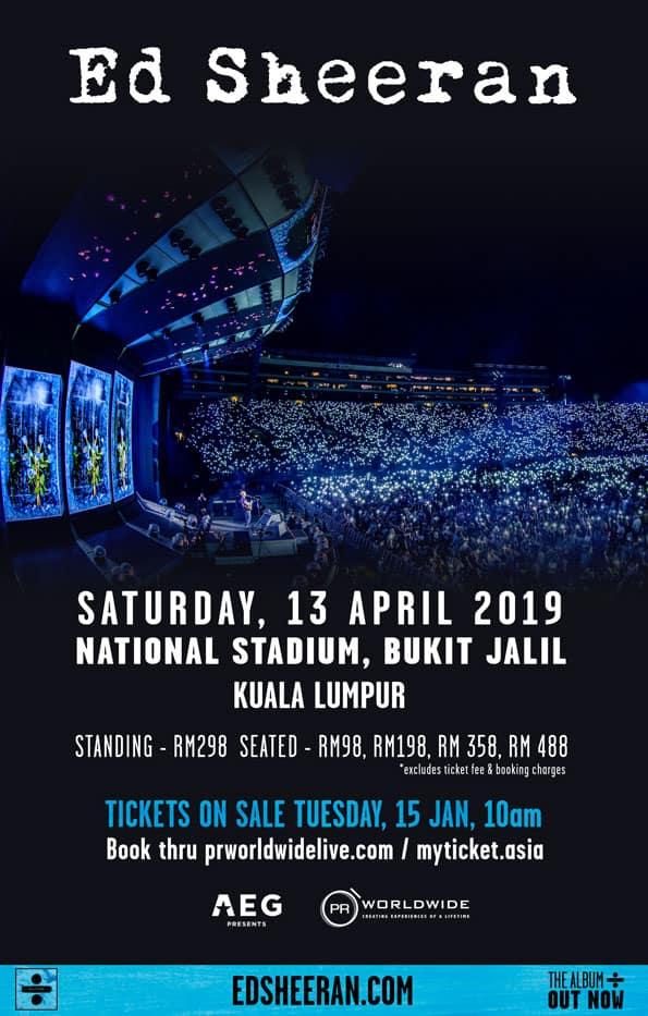 Konsert Ed Sheeran Di Stadium Nasional 13 April 2019