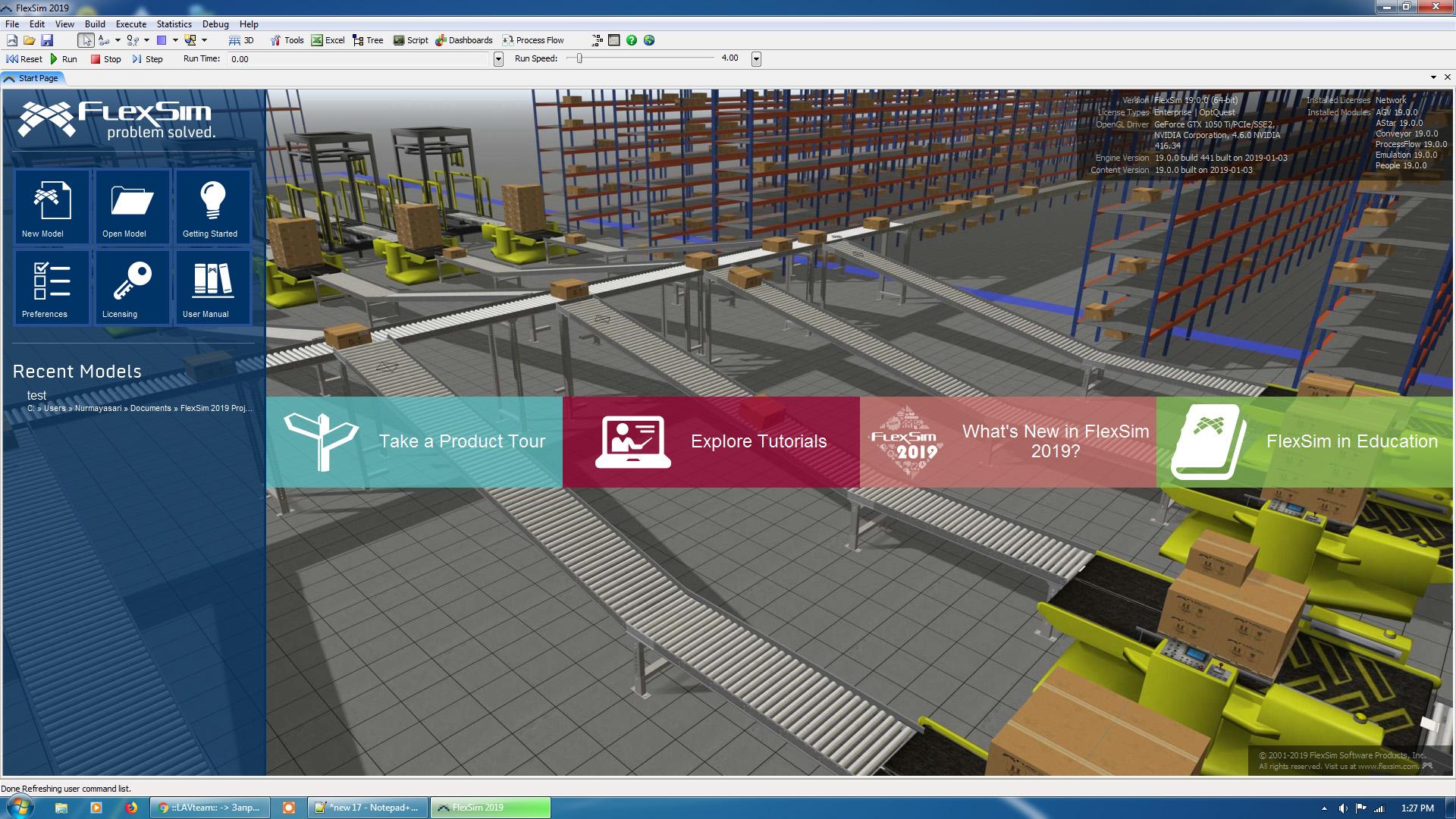 Working with FlexSim 2019 Enterprise 19.0 full