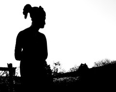 Sewerby Statue Silhouette