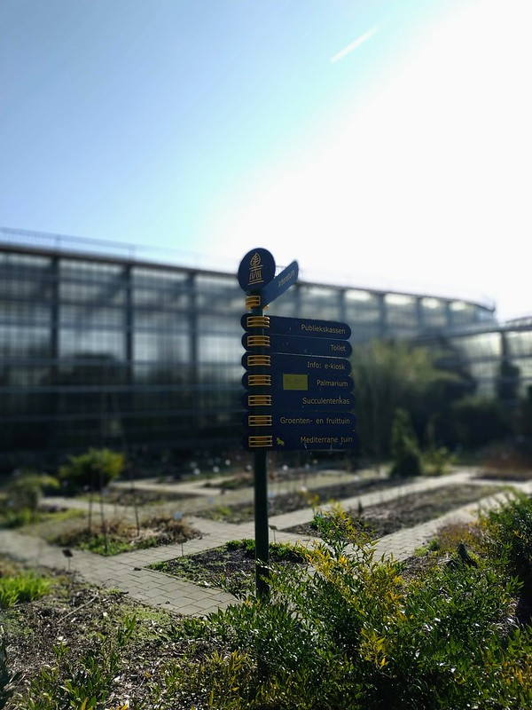 Partes del jardín botánico