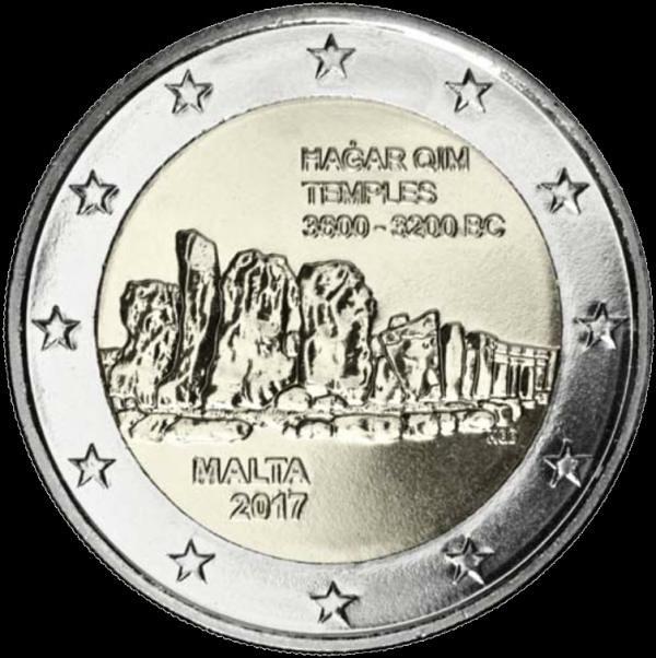 2 Euro Malta 2017, Chrámy Hagar Qim