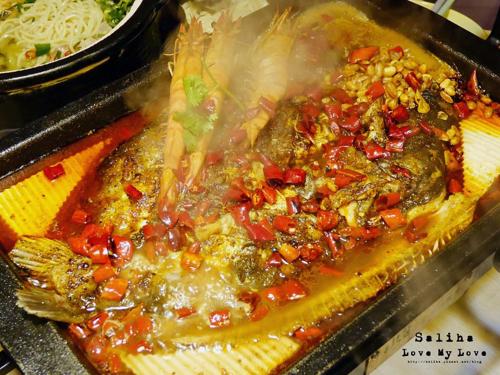 台北松山區小巨蛋站附近餐廳推薦水貨炭火烤魚麻辣火鍋涮涮鍋大份量肉盤 (1)