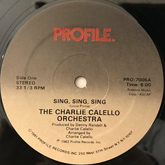THE CHARLIE CALELLO ORCHESTRA:SING, SING, SING(LABEL SIDE-A)