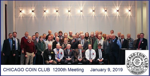 Chicago Coin Club 1200th meeting 2019 group photo