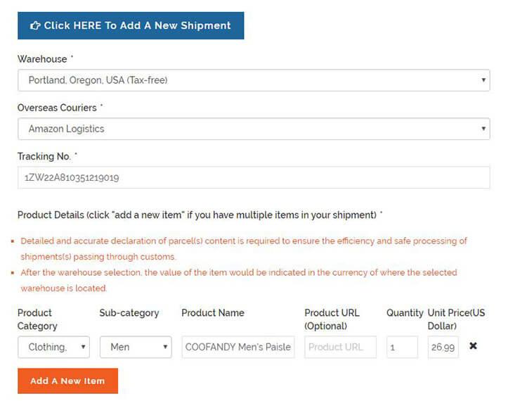 buyandship shipment