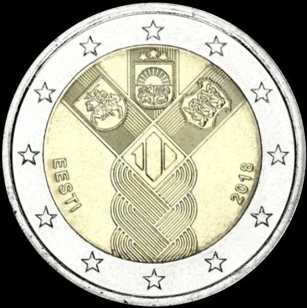 2 EURO Estónsko 2018 - Storočnica pobaltských štátov