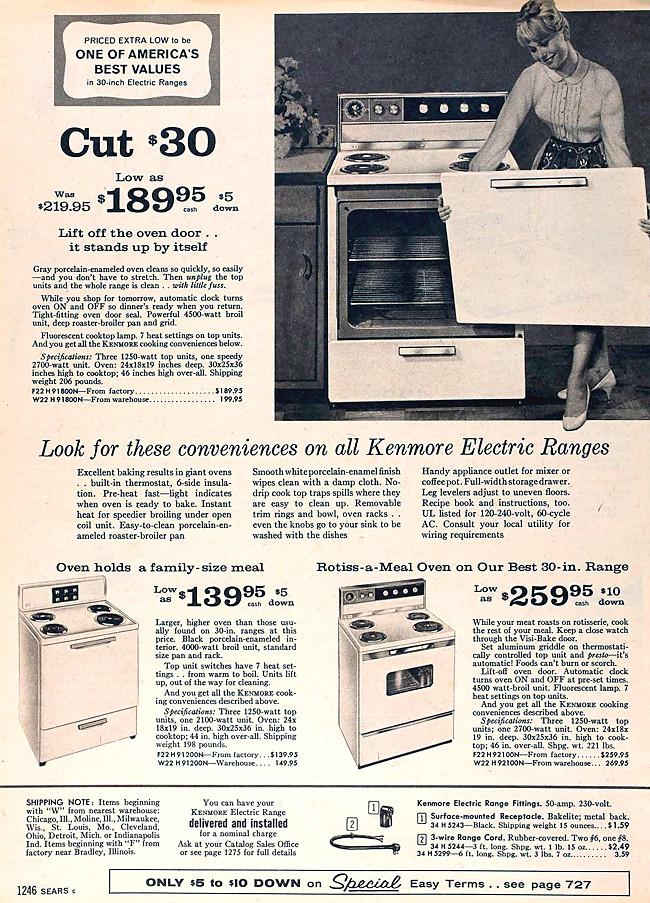 Sears Kenmore 1960