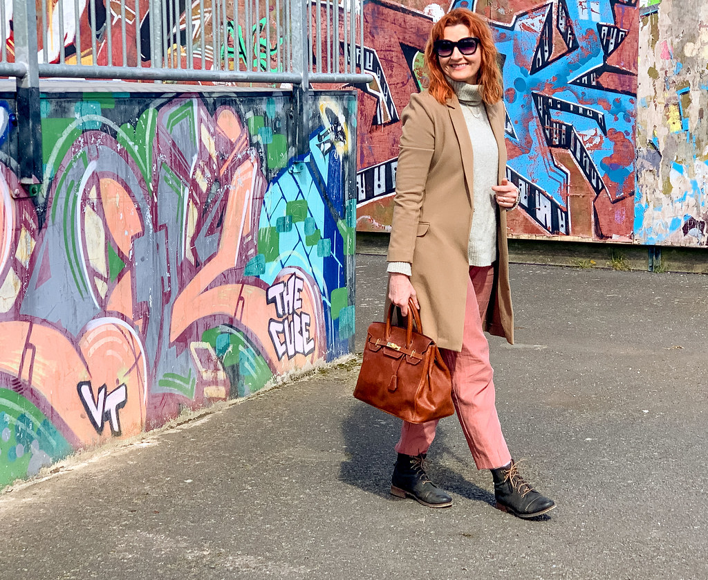 Over 40 fashion: How to Wear Flat Lace-Up Boots (Masculine Chic Style) | Not Dressed As Lamb