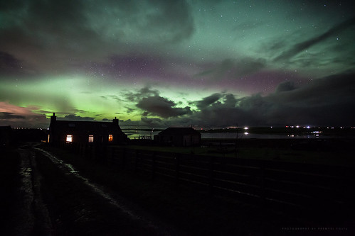 Northern lights over our house