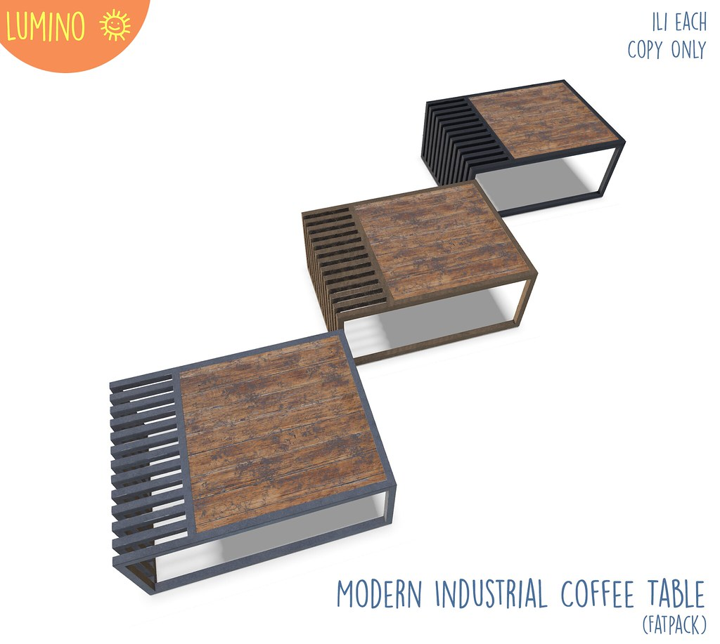 Modern Industrial Coffee Table - TeleportHub.com Live!