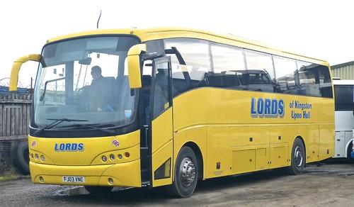 FJ03 VNC 'Lords of Kingston upon Hull'. Volvo B12M / Caetano on Dennis Basford's railsroadsrunways.blogspot.co.uk'