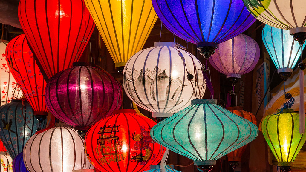 A collection of Chinese lanterns