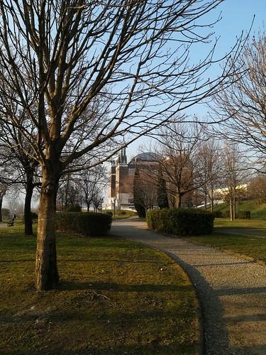 Un pomeriggio di febbraio nel campus di Fisciano.