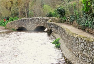 Gallox pack horse bridge Dunster Somerset