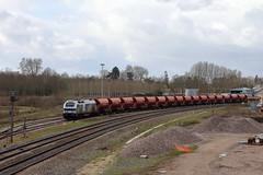 Arrivée à Gouaix du train venant de CEMEX à Courcelles en Bassée.