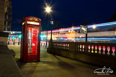London Telephone Box in traffic
