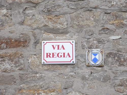 20110318 0205 200 Jakobus Ollendorf Via Regia Hinweisschild