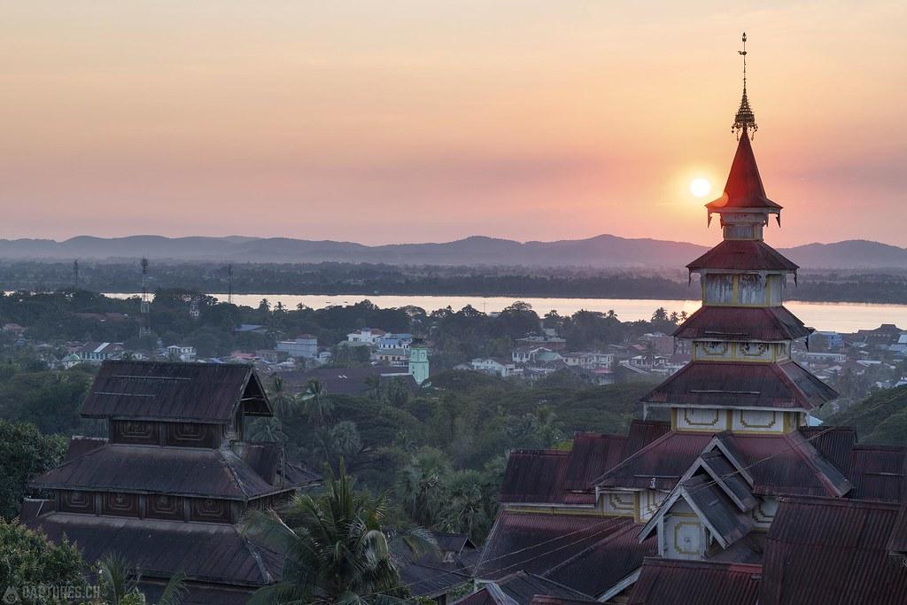 Sunset on the hill - Mawlamyaing