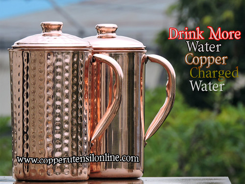 Pure Copper Jug with Lid for Storing Drinking Water