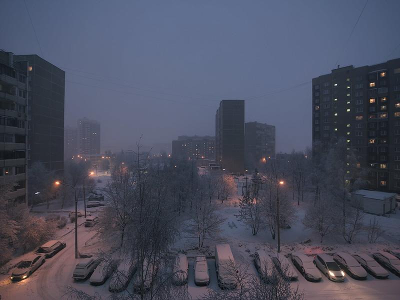 Зимняя сказка за окном.