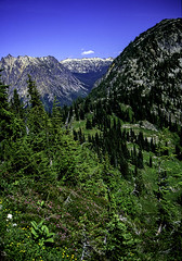View from Heather Pass 1, North Cascades National Park, Washington, 2002