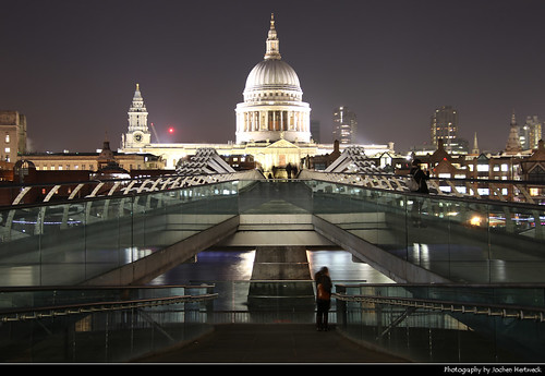 St. Paul's Cathedral seen from Millenium Bridge, London, UK