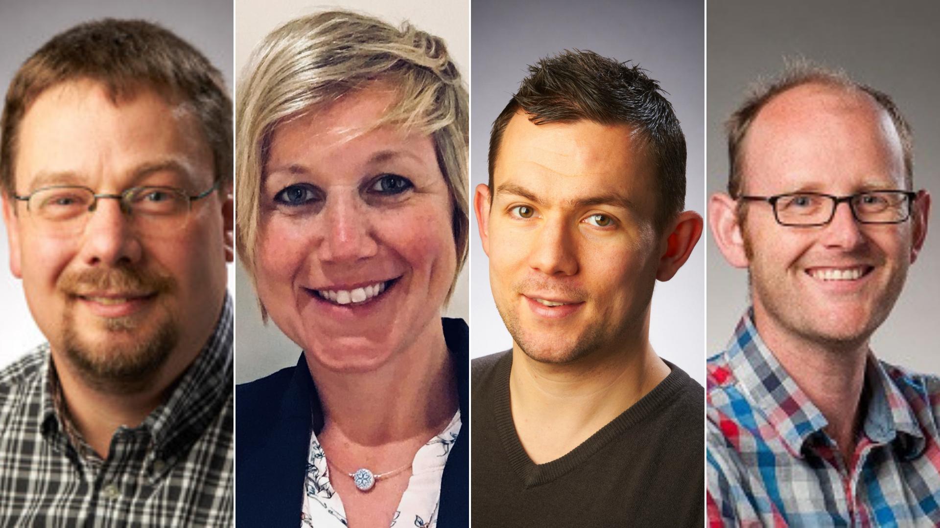 Four new professors