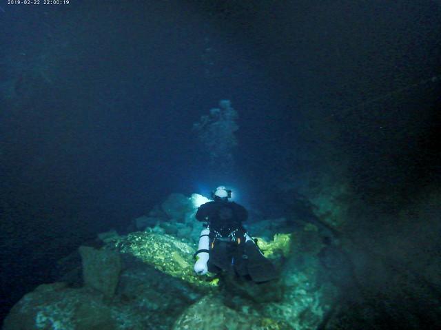 Un equipo de la UNED logra alcanzar el final del Túnel de la Atlántida en Lanzarote (08/03/19)
