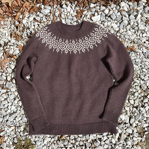 PollyBaker's Petula Pullover by Isabell Kraemer knit with Kelbourne Woolens Andorra