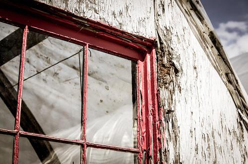 Scarred Windowframe