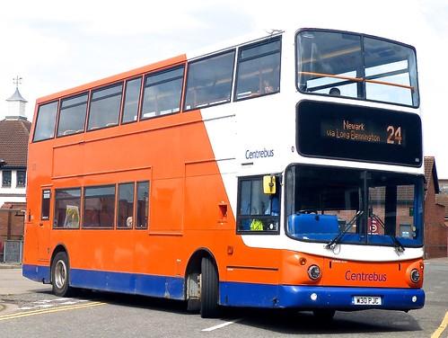 W30 PJC 'Centrebus'No. 887. Dennis Trident / Alexander ALX 400 on Dennis Basford's railsroadsrunways.blogspot.co.uk'