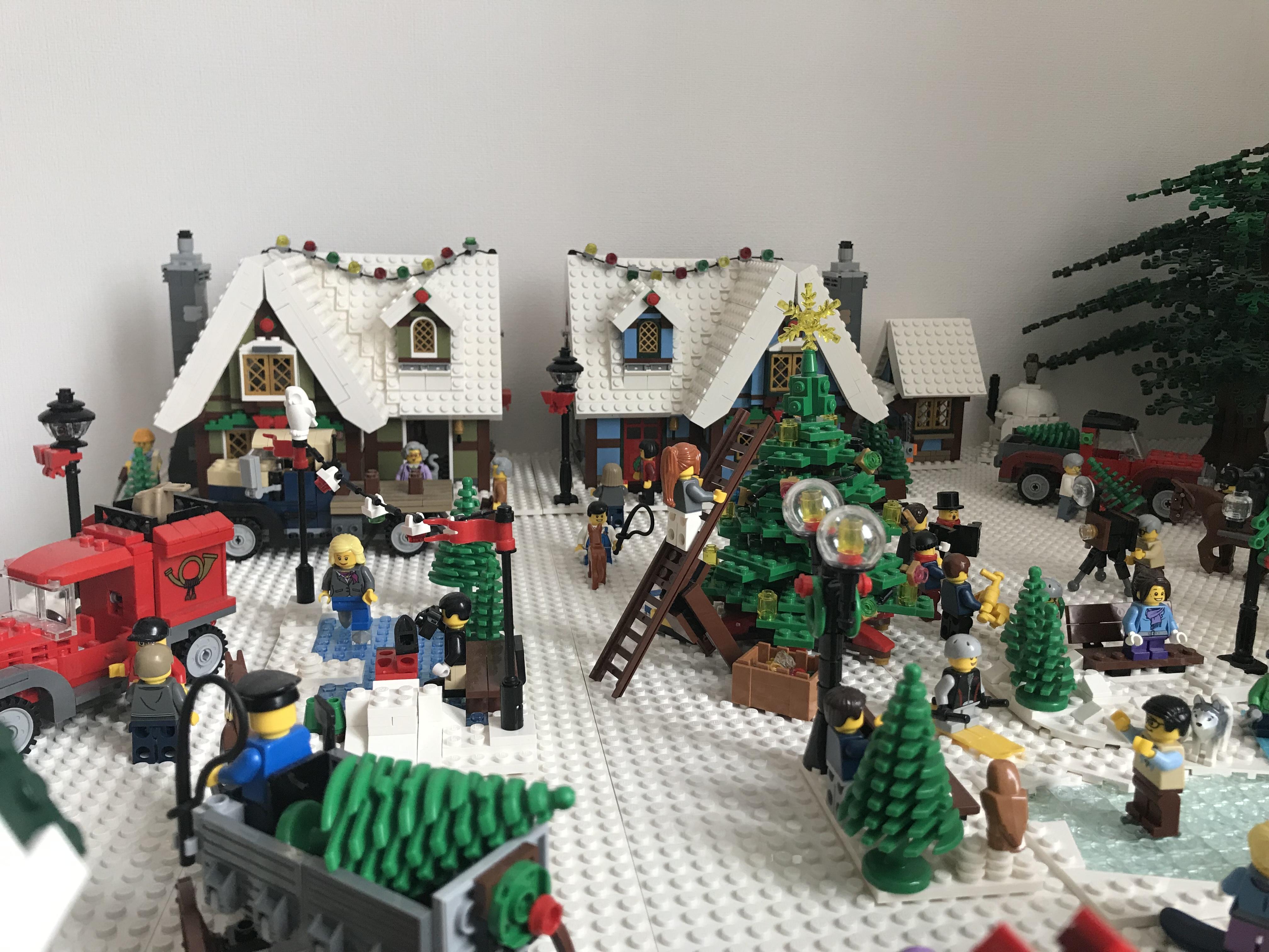 Lego Christmas Set 2019.Our 2019 Lego Winter Village Diorama Lego Town
