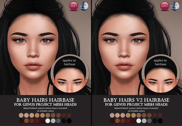 Genus Baby Hairs Hairbases
