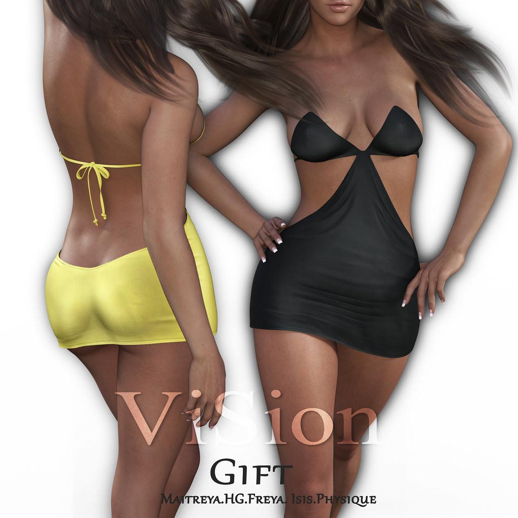 {ViSion} // Norah Dress - Group GIFT - TeleportHub.com Live!