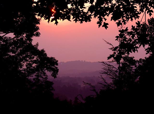 Sunrise over Flat Rock