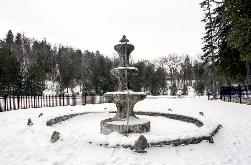 The Belfountain Fountain Off Season