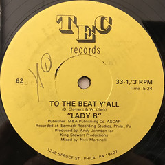 LADY B:TO THE BEAT Y'ALL(LABEL SIDE-B)