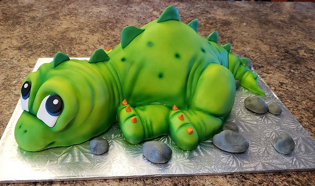 Dino Cake by Frosted Addiction Cake