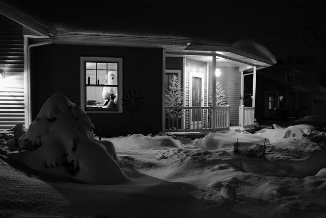 Snowy night #LifeinOshkosh