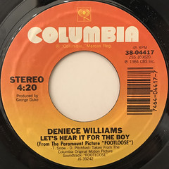 DENIECE WILLIAMS:LET'S HEAR IT FOR THE BOYS(LABEL SIDE-A)