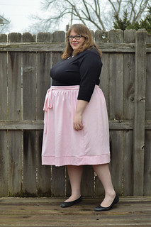 Pink silk Cleo skirt | by whitneycurella
