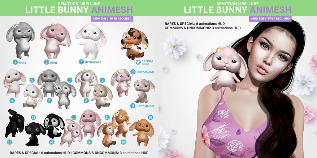 SEmotion x Libellune Little Bunny Animesh - TeleportHub.com Live!
